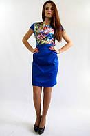 Стильное  молодежное платье юбка -блузка. Полина эллектрик.