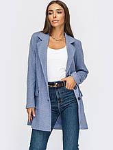 Удлиненный пиджак из смесовой шерсти с накладными карманами