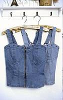 Топ-бюстье джинс