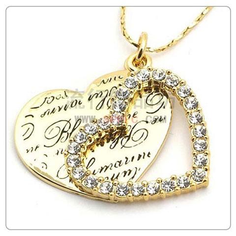 Кулон РОМАНТИКА ювелірна біжутерія золото 18К декор кристали Swarovski