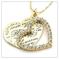 Кулон РОМАНТИКА ювелирная бижутерия золото 18К декор кристаллы Swarovski