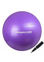 М'яч для фітнесу (фітбол) Profi 65 см M-0276-1 Violet