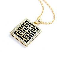 Кулон ГРЕЦИЯ ювелирная бижутерия золото 18К декор кристаллы Swarovski