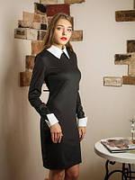 Деловое черное платье с воротником Мариам.