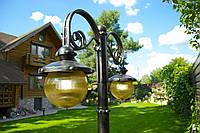 Кованые фонари для сада