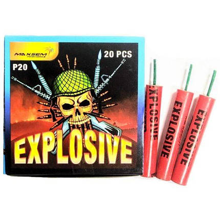 Петарда фитильная Explosive P20 Опт, фото 2