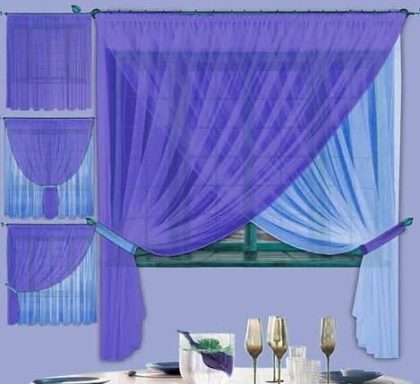 Комплект штор Лиана Чернильная, кухонные, фото 2