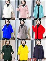 Кардиган альпака на блискавці з капюшоном для дівчат норма розмір 46-52,мікс кольорів