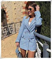 Піджак букле для дівчат норма розмір 42-46,блакитного кольору