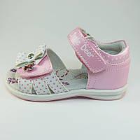 Детские кожаные босоножки (сандалии) B&G для девочек розовые