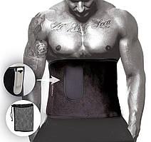 Пояс для похудения PowerPlay 4301 (125*30) Черный + карман для смартфона