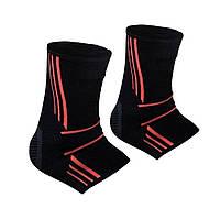 Спортивні бандажі на голеностоп Power System Ankle Support Evo PS-6022 Black/Orange XL
