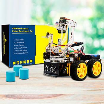 Роботизований конструктор Ардуїнов 3 в 1 розумний автомобіль маніпулятор рука