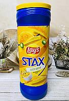 Чіпси lay's Stax Пікантний соус із зеленню