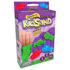 """Набір креативного творчості """"Кінетичний пісок""""KidSand"""" Danko Toys KS-05 міні, 200 г, укр (Animals Violet)"""