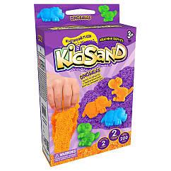 """Набір креативного творчості """"Кінетичний пісок""""KidSand"""" Danko Toys KS-05 міні, 200 г, укр (Dinosaurus"""