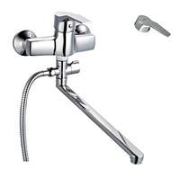 Кран смеситель для ванной из силумина ZERIX EDN 283 однорычажный поворотный смеситель в ванную комнату Чехия