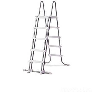 Сходи для басейну Intex 28077 (28074),(132 см) зі знімними ступенями, з майданчиком, (Оригінал)