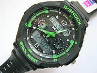 S-Shok SKMEI 0931 Green, спортивные часы, цифровые + аналоговые, будильник, секундомер, водонепроницаемые, фото 1