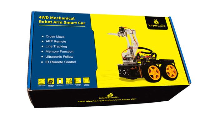 Роботизированный конструктор Ардуино 3 в 1 умный автомобиль манипулятор рука