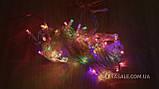 Гирлянда штора-водопад,прозрачный шнур, 3*2 м, 280 LED, мультик, с переходником, фото 3