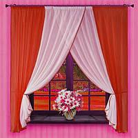 Комплект штор Кларис Алая, кухонные