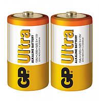 Батарейка GP 13AU-S2 Ultra alkaline LR20 D (трей, 2/20)