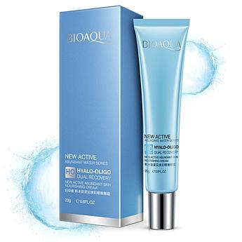 Питательный крем для кожи вокруг глаз BIOAQUA New Active Hyalo-Oligo Dual Recovery Eye Cream 20 г