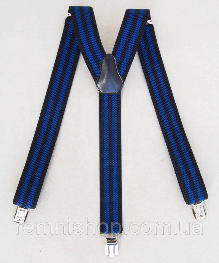 Черно-синие мужские подтяжки