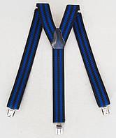 Черно-синие мужские подтяжки, фото 1