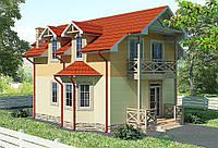 Строительство дома из сип панелей 117,07м.кв. «ВИОЛЛА»