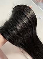 Натуральні європейські волосся на заколках колір чорний шоколад