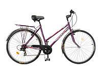 Велосипед 7 шв. вiдкр.рама Турист 28 287WDA бордовий 111-471 ТМ ХВЗ