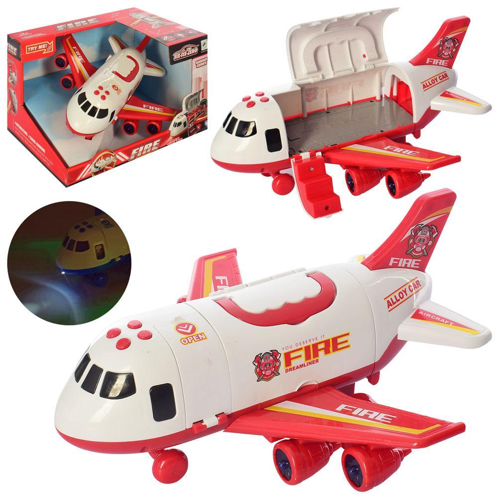 Літак 660-A243 (18шт) інер-й, 30см, звук, світло, корпус-контейнер, на бат-ке, в кор-ке, 30-20-24,5см
