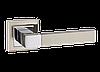 Дверные ручки LINDE A-2004 SN/CP-матовый никель/хром