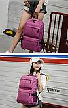 Рюкзак червоний з кишенями, фото 4