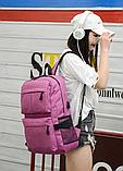 Рюкзак червоний з кишенями, фото 5