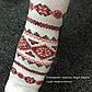 """Колготки """"Україночка"""" білі з червоним візерунком., фото 2"""
