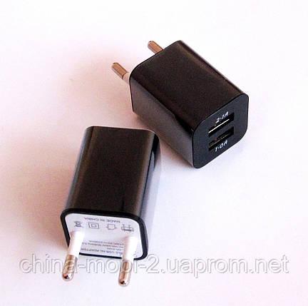 Универсальное зарядное устройство 2*usb, Адаптер 5В*2А +5В*1А (2210), фото 2