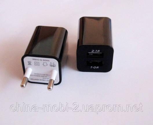 Универсальное зарядное устройство 2*usb, Адаптер 5В*2А +5В*1А  2210  new, фото 2