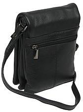 Небольшая наплечная кожаная сумка-барсетка Always Wild 011NDM, фото 3