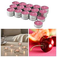 Ароматические свечи-таблетки IKEA SINNLIG 30 шт х 4 часа горения чайные ароматические декоративные вишня ИКЕА