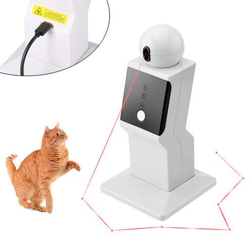 Автоматическая лазерная указка игрушка робот проектор для кошек, USB
