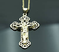 Престижные кресты с распятием на цепочке. Ювелирная бижутерия FJ Fallon. 8
