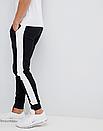 Теплые мужские спортивные штаны Everlast с лампасами черные (ФЛИС), фото 4
