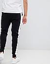 Теплые мужские спортивные штаны Fila №09 с лампасами черные ФЛИС (до -25 °С), фото 3