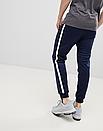 Теплые мужские спортивные штаны Nike с лампасами синие (ФЛИС), фото 4