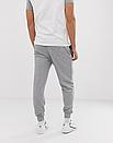 Теплые мужские спортивные штаны Air Jordan №84 серые (ФЛИС), фото 2