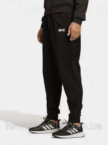 Теплые мужские спортивные штаны черные (ФЛИС) UFC