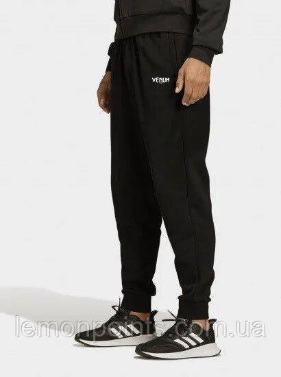 Теплые мужские спортивные штаны черные ФЛИС (до -25 °С) Venum